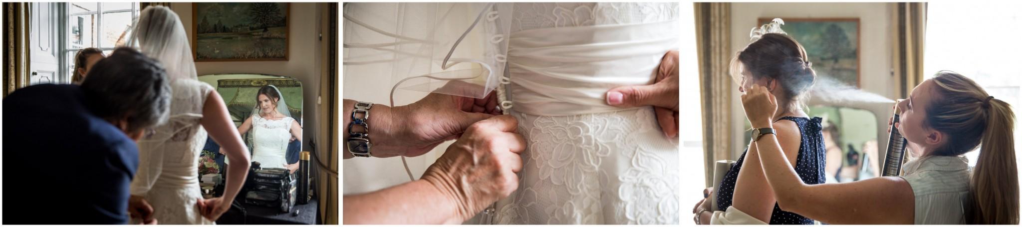 Avington Park Wedding Bride in Wedding Dress