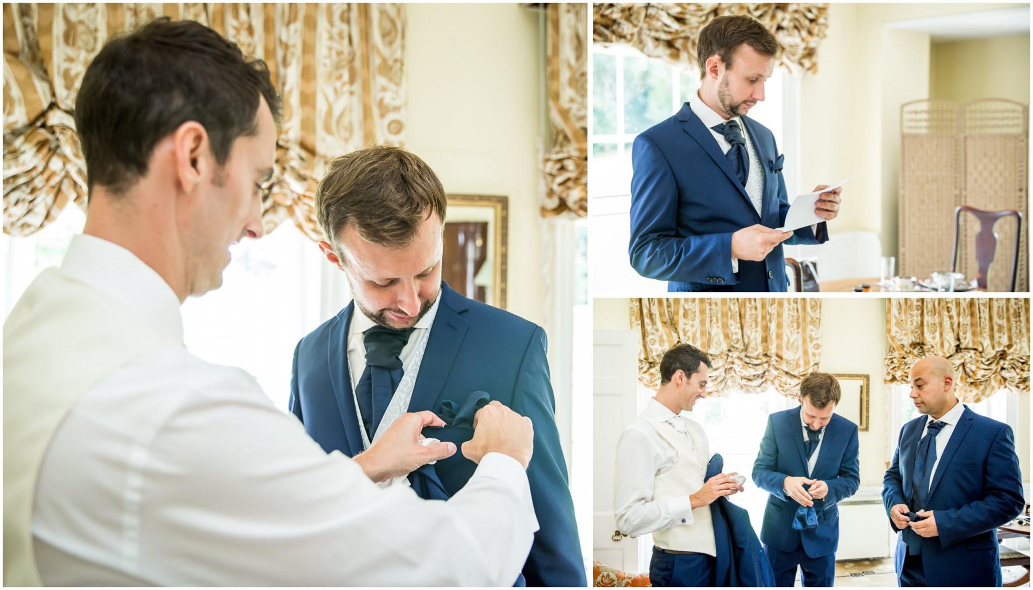 Avington Park Wedding Groom with Ushers