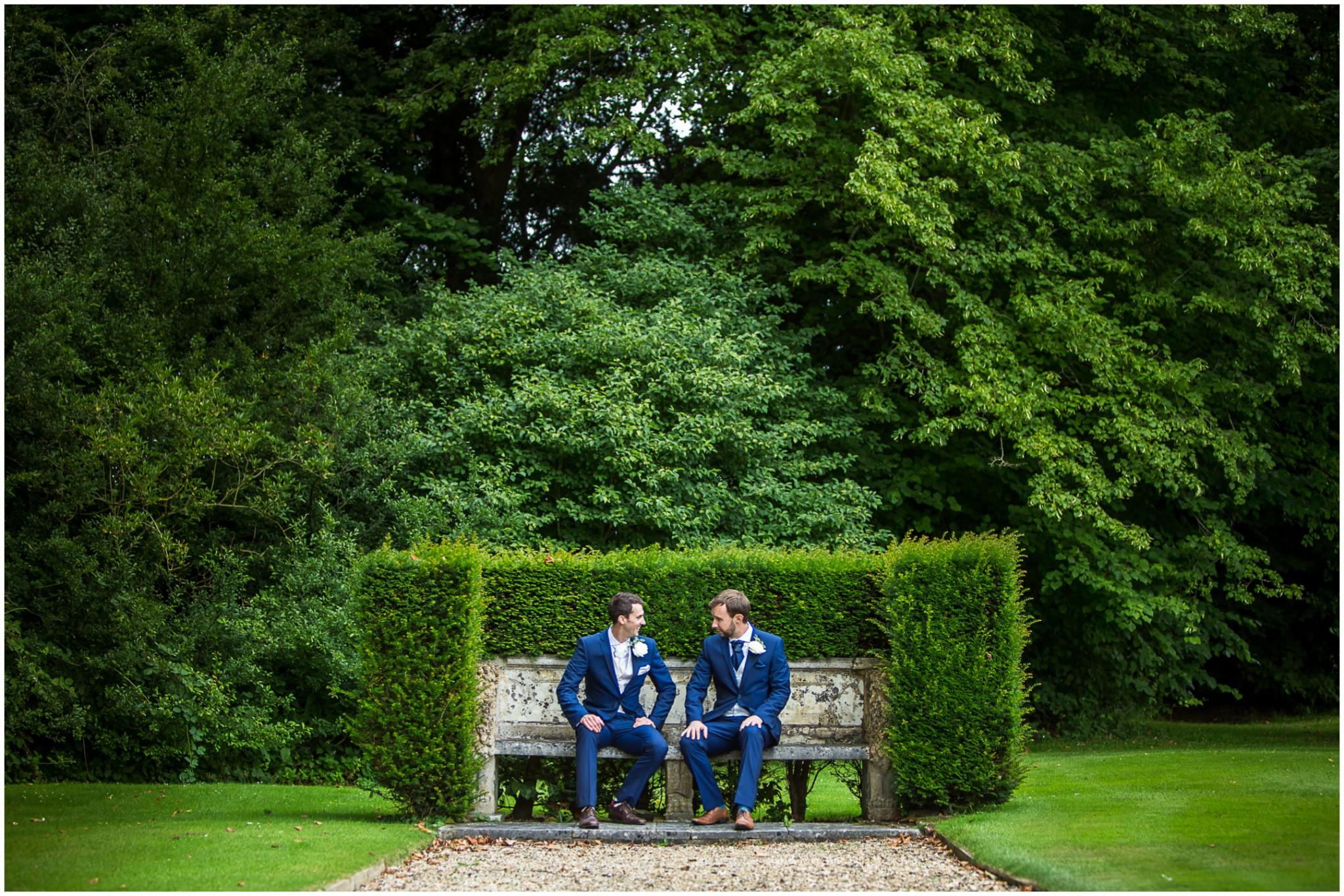 Avington Park Wedding Groom and Best Man