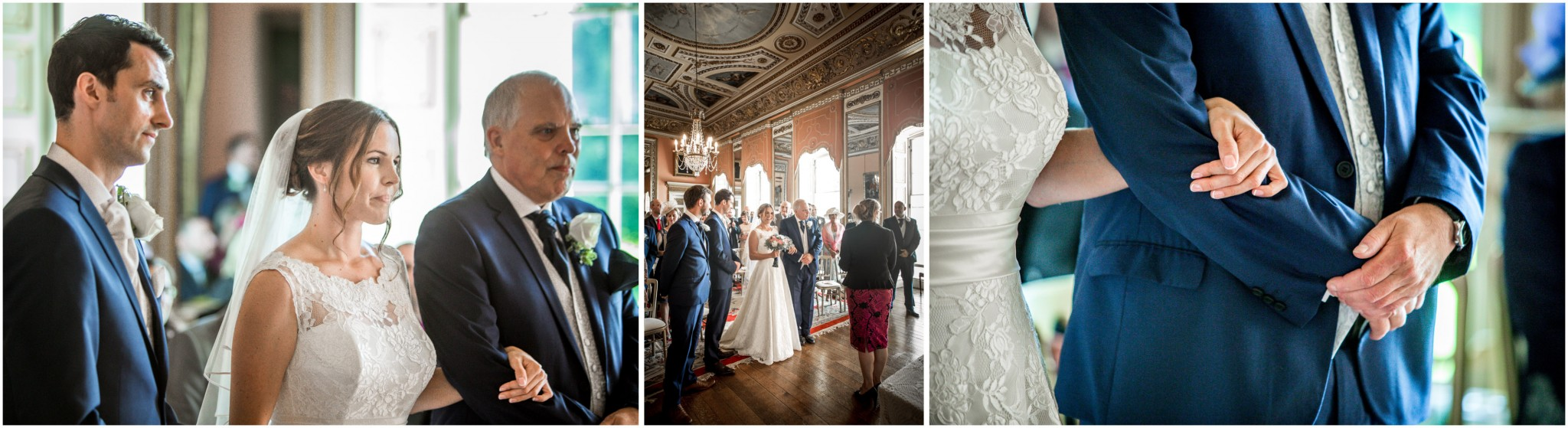 Avington Park Wedding Bride & Groom in ceremony