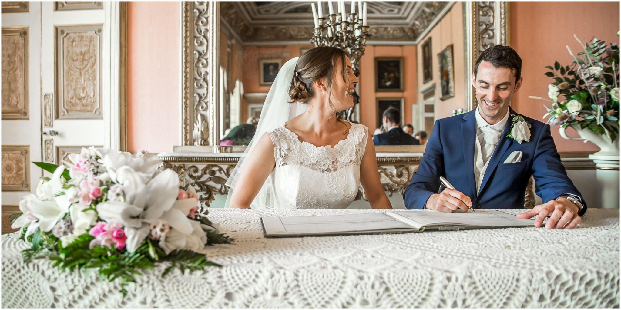 Avington Park Wedding Signing of the Register