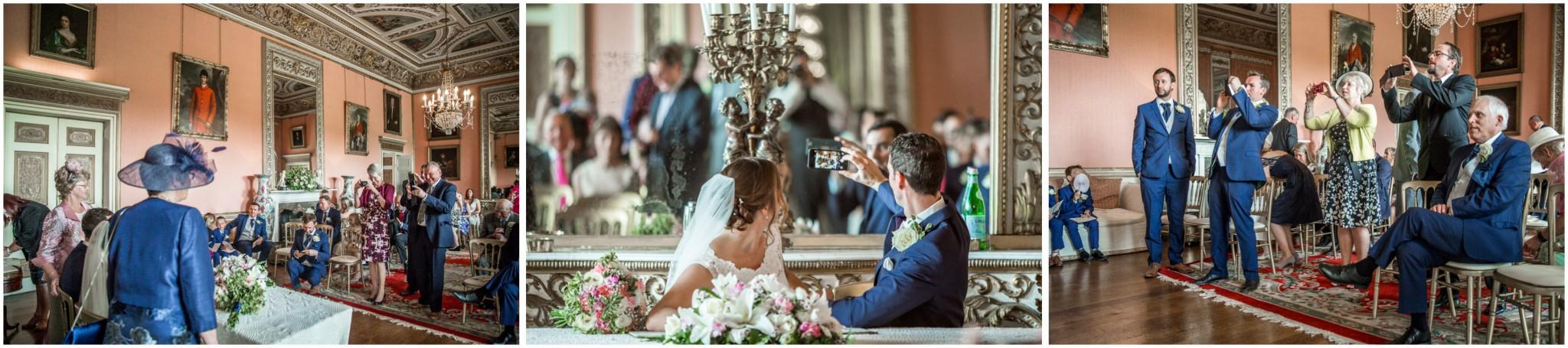 Avington Park Wedding Signing of the Register Selfie