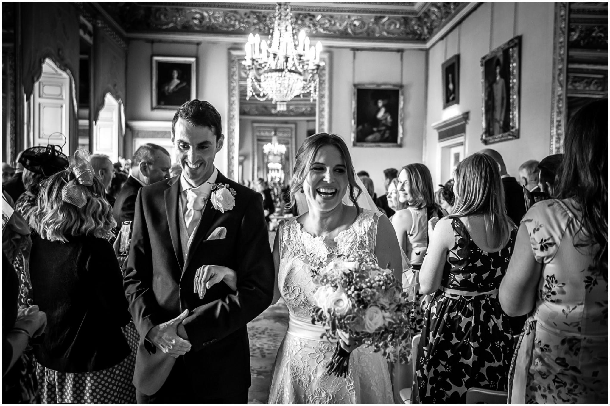 Avington Park Wedding Walking down the aisle