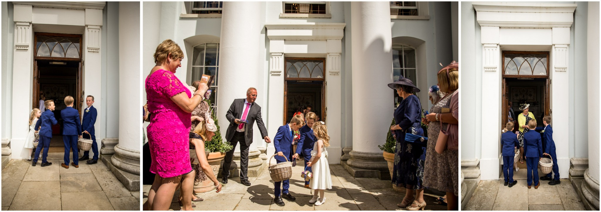Avington Park Wedding Preparing to throw confetti