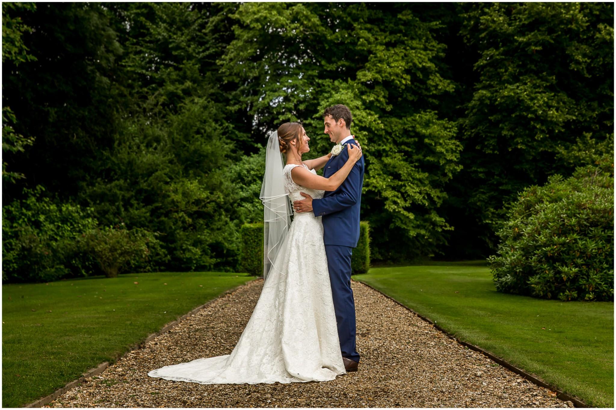 Avington Park Wedding Bride & Groom Portrait 001