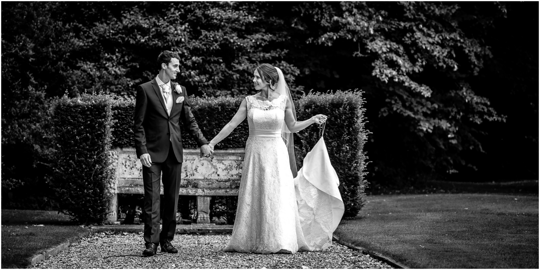 Avington Park Wedding Bride & Groom Portrait 004
