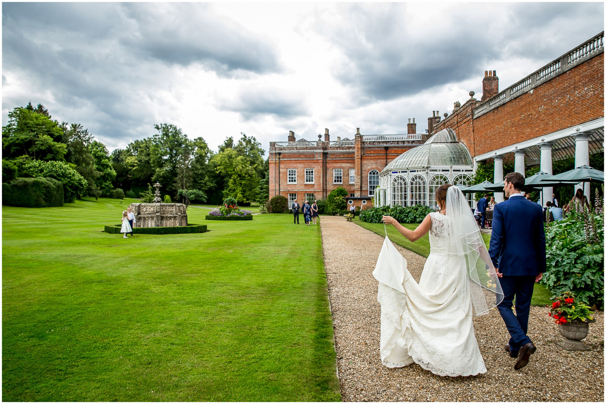 Avington Park Wedding Bride & Groom Portrait 005