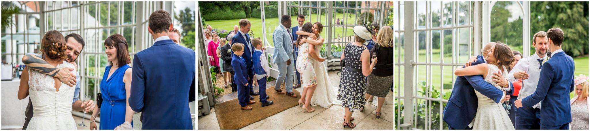 Avington Park Wedding Bride & Groom Before the Wedding Breakfast