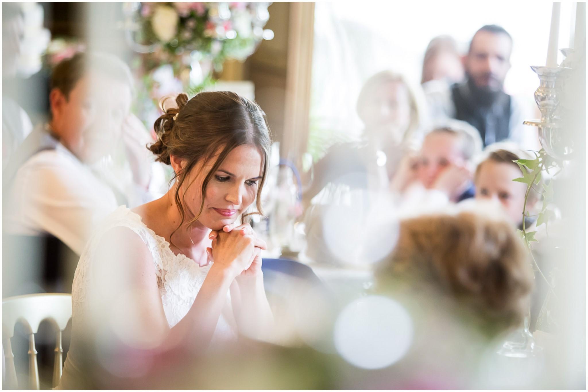 Avington Park Wedding Bride Before the Wedding Breakfast