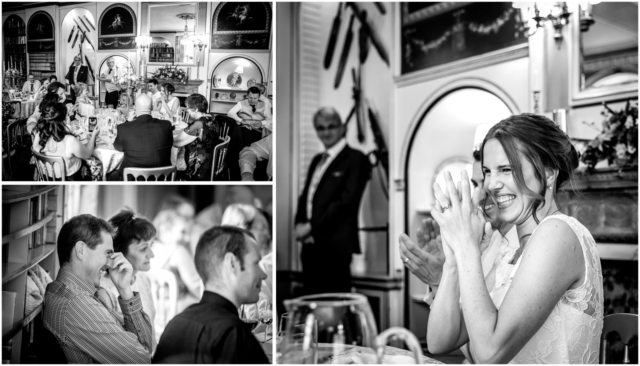 Avington Park Wedding Bride During Speeches