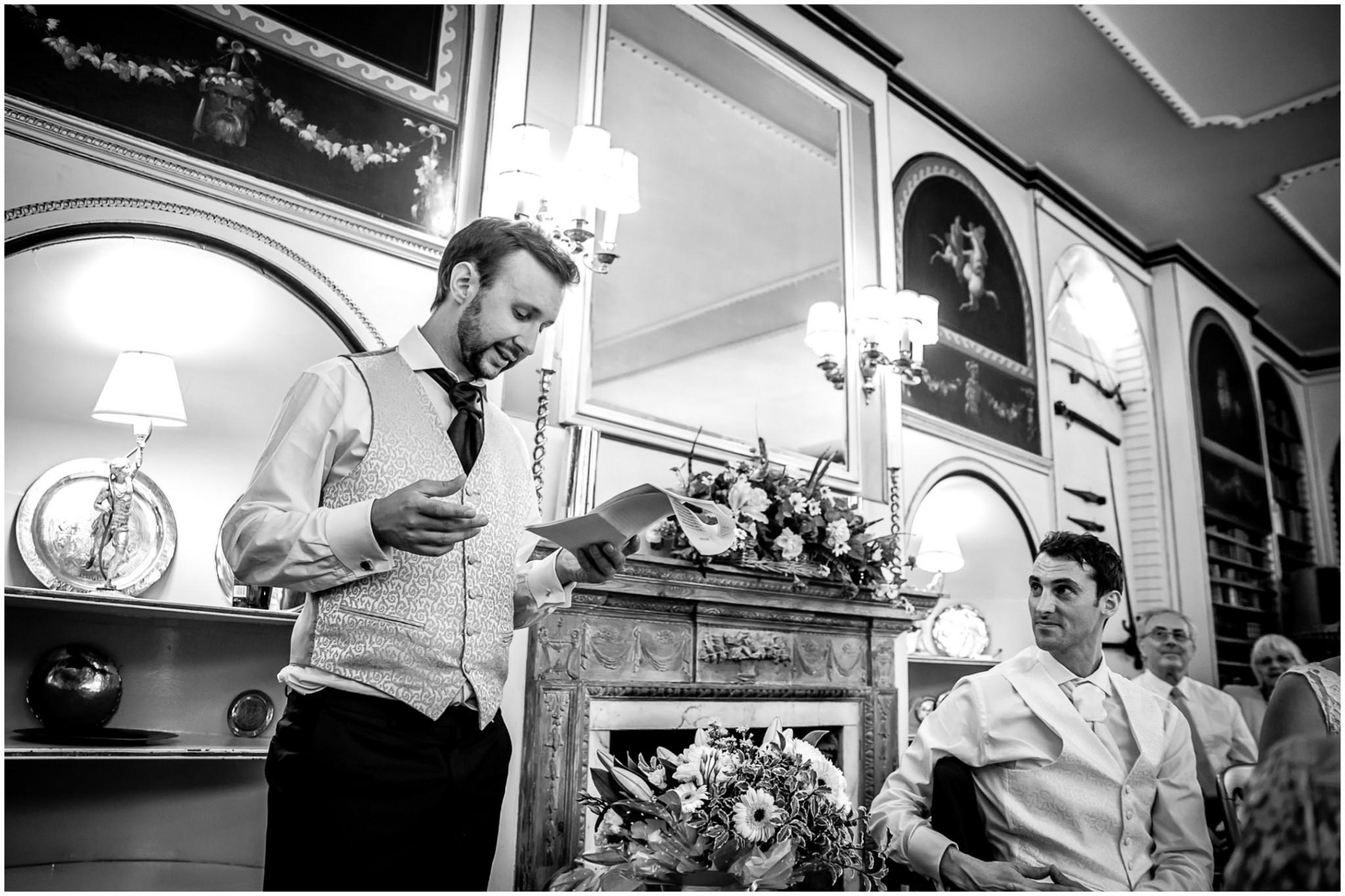Avington Park Wedding Speech given by Best Man