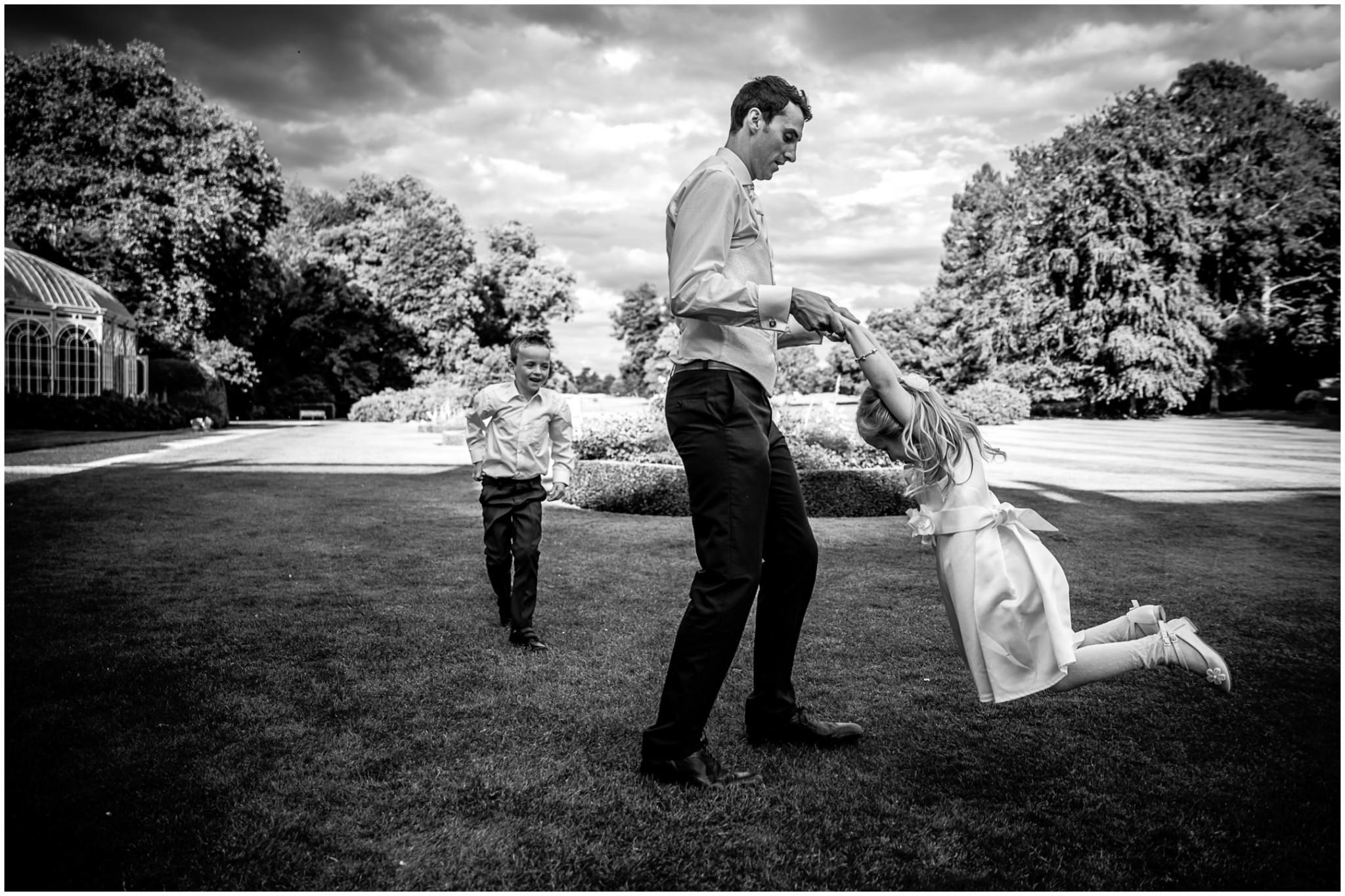 Avington Park Wedding Speech Groom with children