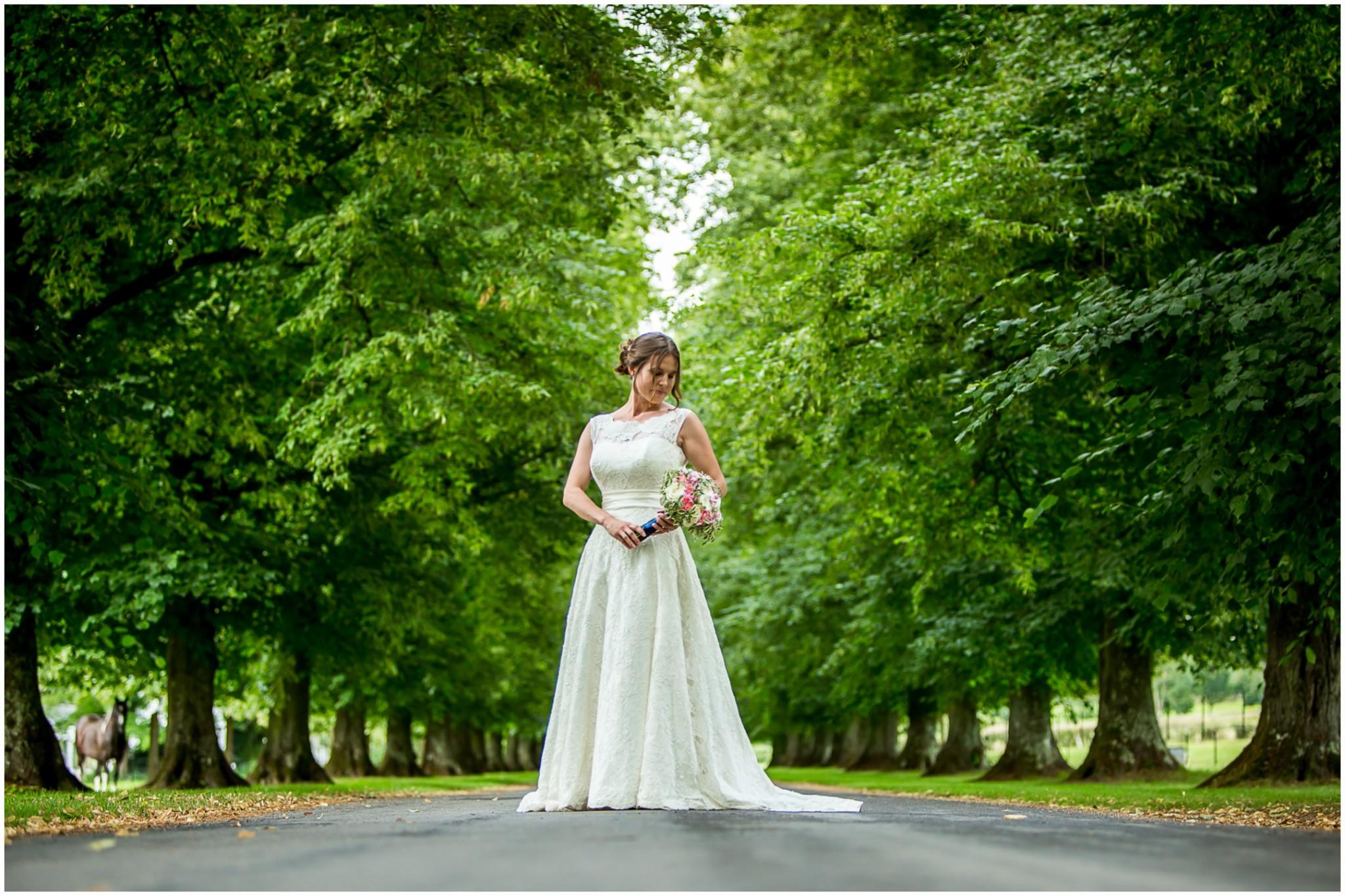 Avington Park Wedding Bride and bouquet