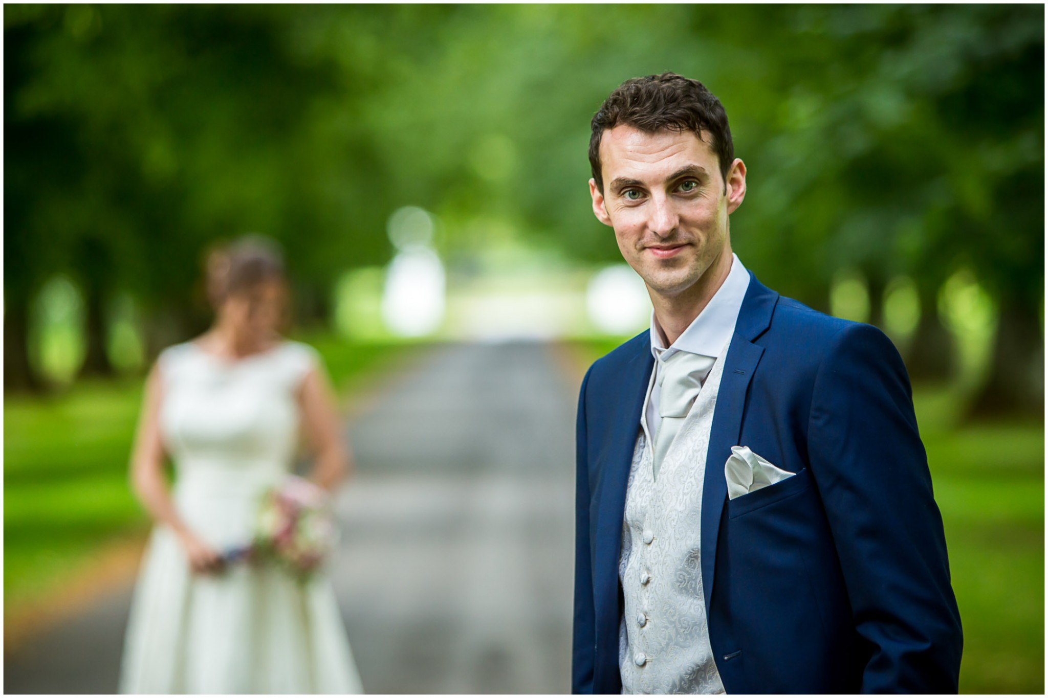 Avington Park Wedding Groom Portrait