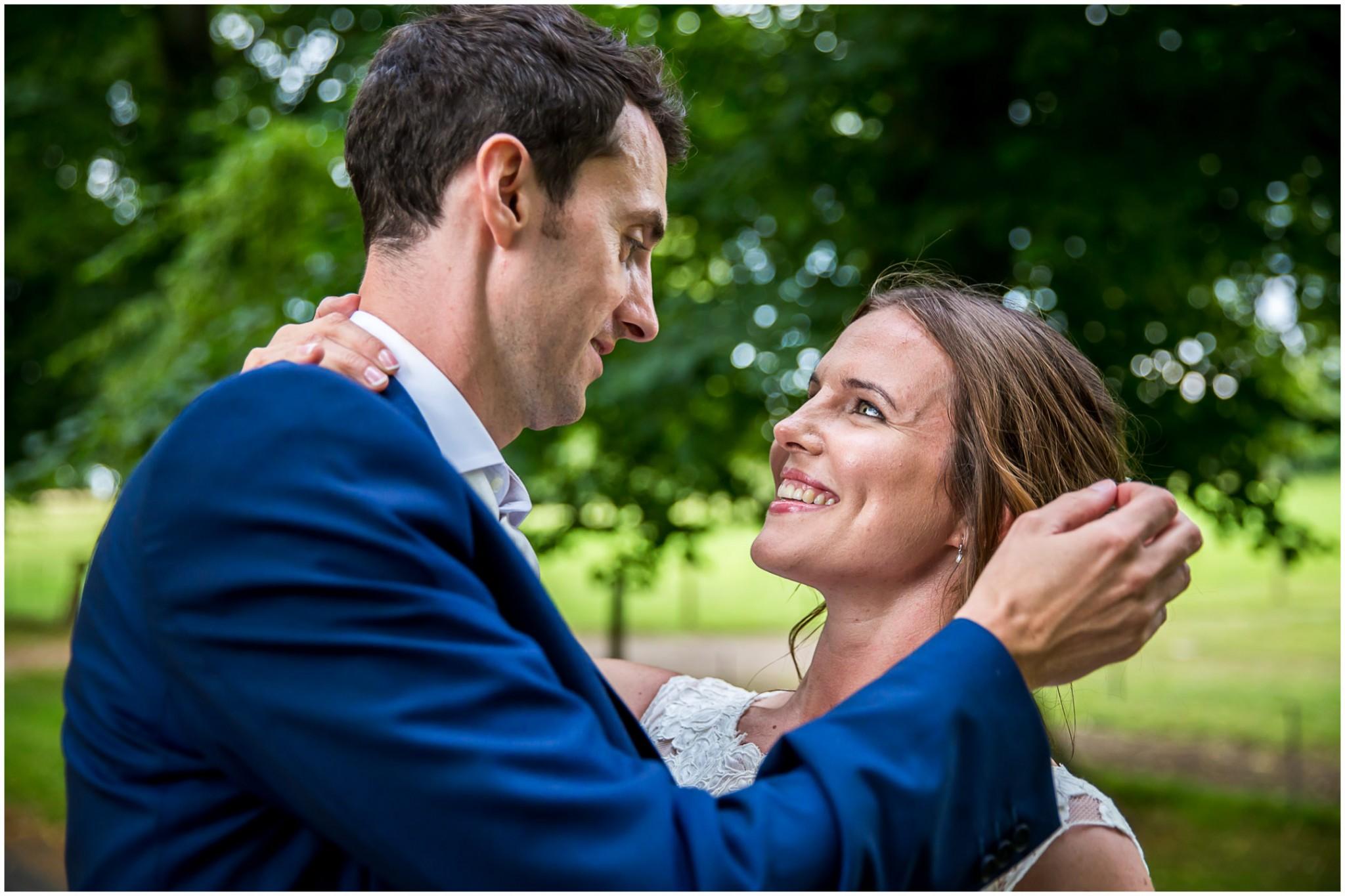 Avington Park Wedding Bride & Groom in Avenue of Trees 001