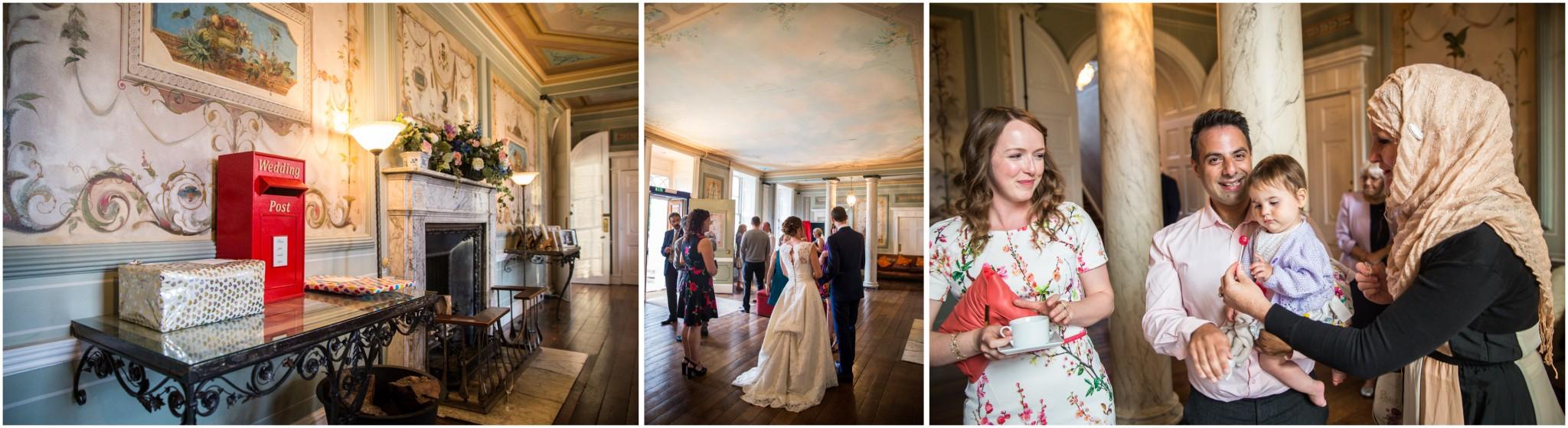 Avington Park Wedding Evening Reception Guests arriving