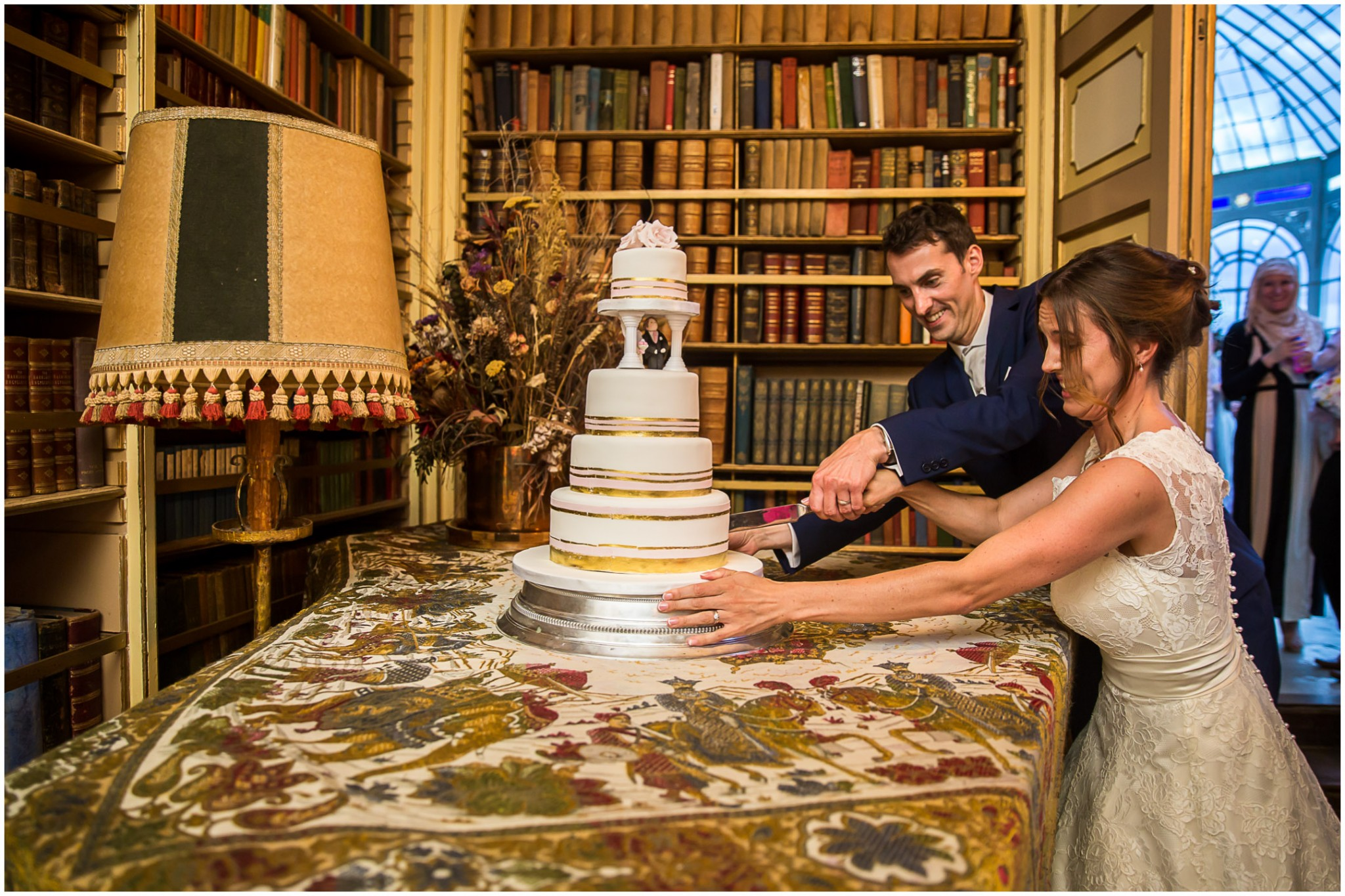 Avington Park Wedding Cutting the Cake