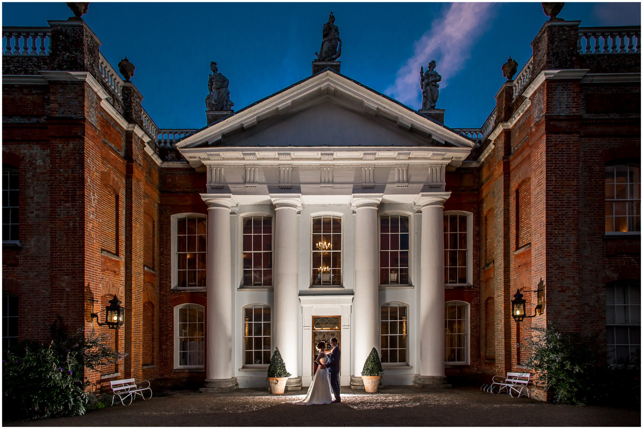 Avington Park Wedding Photographer Evening Exterior Portrait